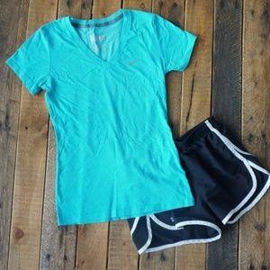 Nike Dri-Fit V-Neck Tee / T-shirt XS Blue